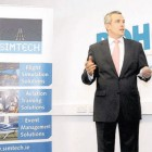 Jamie Rohan at opening of Simtech Facility